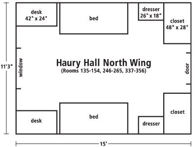 Haury Hall North wing diagram