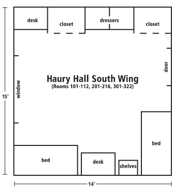 Haury Hall South wing diagram