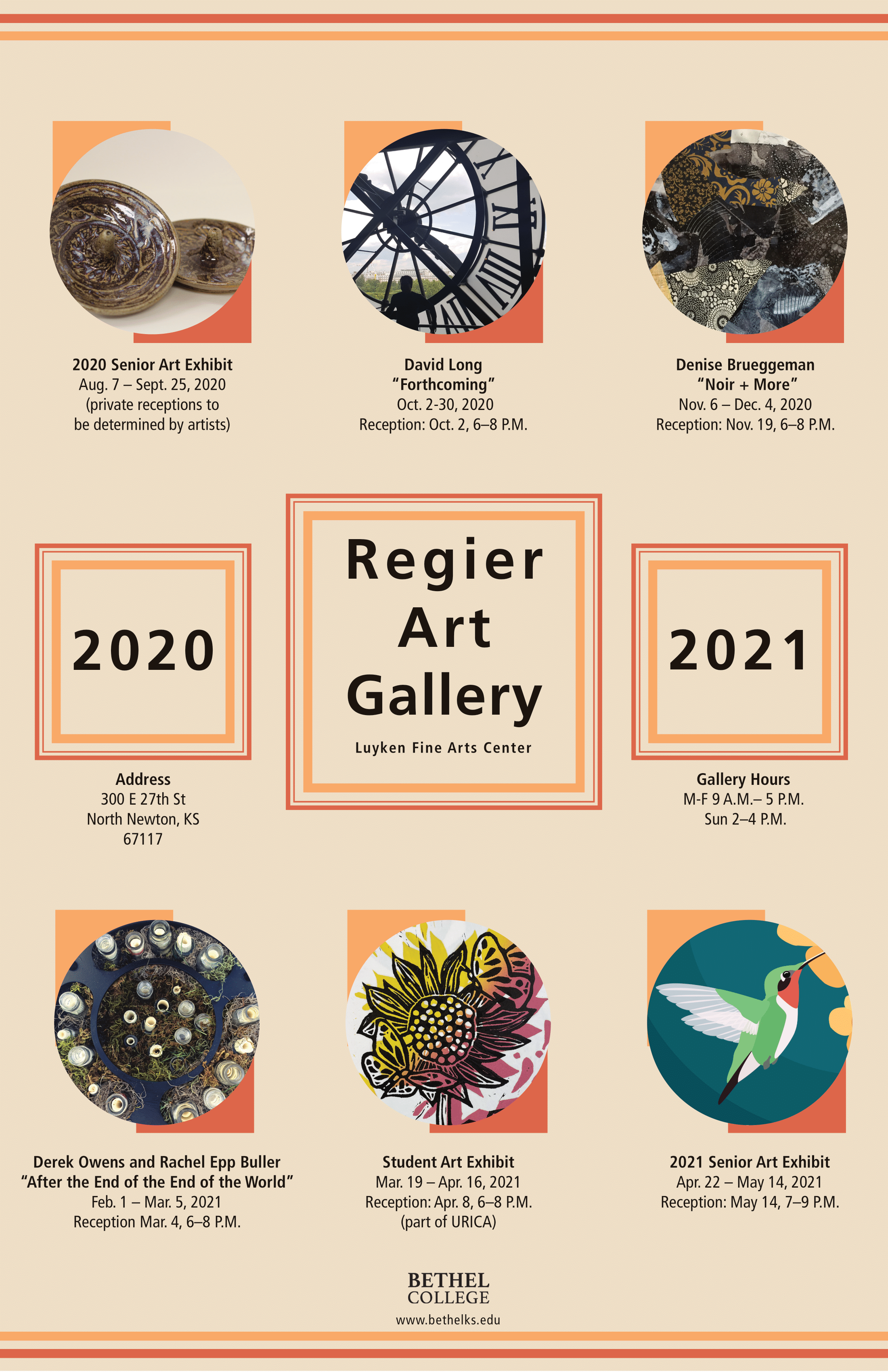 2020 2021 Regier Art Gallery Schedule