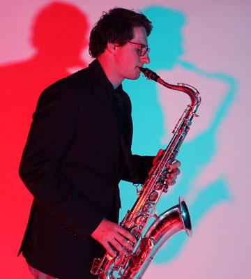 Westen Gesell playing his saxophone