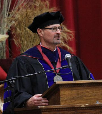 Jon Gering's response to the presidential charge at the Oct. 7 inauguration
