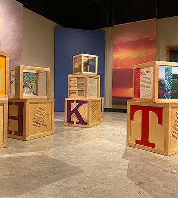 "A view of ""K is for Kansas"" at Kauffman Museum"