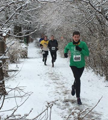 Runners on Sand Creek Trail
