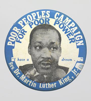 Poor People's Campaign button from 1968
