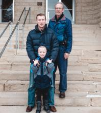 Les Goerzen with his son Peter and grandson Nathan.